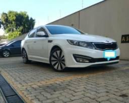 Optima Kia 2012/13 85mil Km branco pérola - 2012