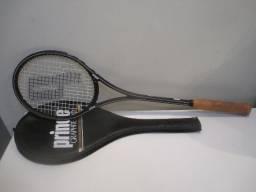 Raquete de squash vintage Prince Graphite Pro de 1986 string pattern 14/17