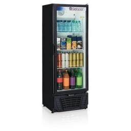 Refrigerador de Bebidas Vertical Porta de Vidro - 414 Litros - Gelopar - Produto Novo