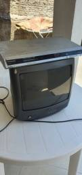 """TV PHILIPIS 14"""" com DVD Panasonic"""