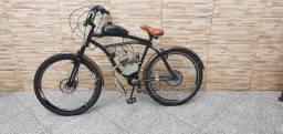 Bicicleta Motorizada Rocket Retrô 80cc Motorização Via Appia