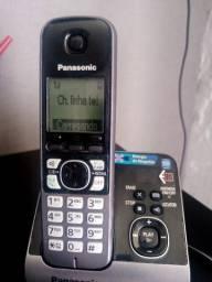 Telefone sem fio Panasonic com secretária eletrônica