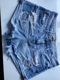 Short jeans cintura alta
