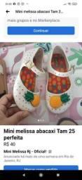 Mini melissa Tam 25 como nova