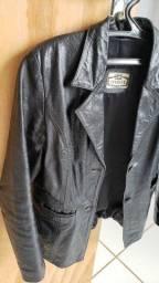 Jaqueta em couro feminina P