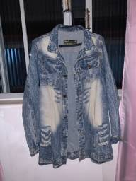 Max Jaqueta Jeans Destroyed