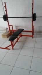 Máquina de academia  supino reto e inclinado