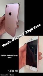 VENDE-SE IPHONE 7 32 GB, valor negociável