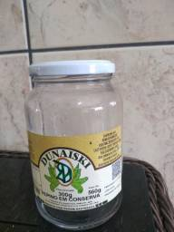 vidros para conserva com tampa 560 gramas