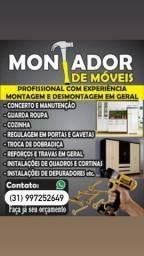 Título do anúncio: Montadores de móveis profissional // carretos