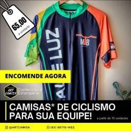 Camisa de Ciclismo UV Personalizada