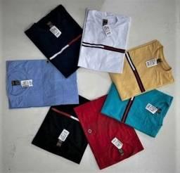 Título do anúncio: Promoção ki 12 camisas de algodão fio 30, preço de fábrica