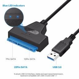 Título do anúncio: Conversor cabo Sata/Usb  HD externo Adaptador