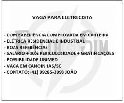 Título do anúncio: Vaga Emprego Eletricista.