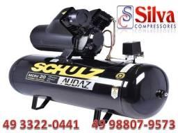 Título do anúncio: Compressor de ar 20 pés 150L 175Lbs 12Bar 5CV Tri 220/380V Schulz
