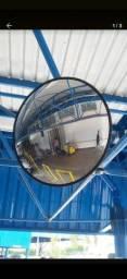 Espelho de segurança Convexo 50cm com borda emborrachada