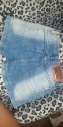Shorts jeans novos N:36