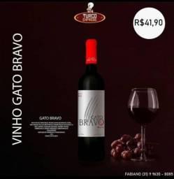 Vinho Gato Bravo 750 ml Português. Caixa com 6 unidades Delicioso vinho seco.