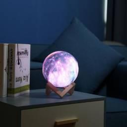 Luminária Led Lua 3D