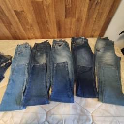 Lote 5 calças jeans Tam 36