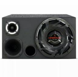 Caixa trio com subwoofer 12 automotivo