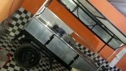 Carretinha food truck energia solar leia