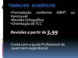 Formatação,revisão de trabalhos acadêmicos em geral