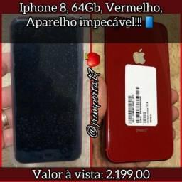 IPhone 8 64gb Red Impecável!