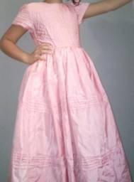 Vestido rosa BB (10anos)