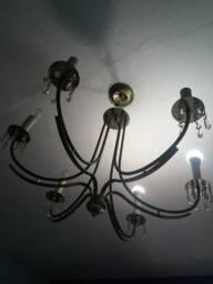 Lutre de alumínio candelabro
