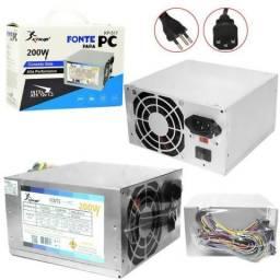 Título do anúncio: Fonte atx 200 watts sata 24 pinos