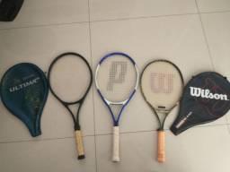 Raquete de tênis Prince/ Spalding e Rak Attak 25 apartir de R$99,00