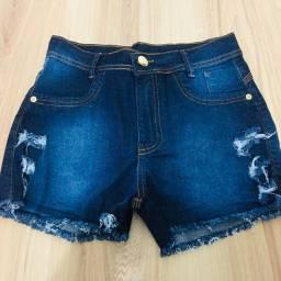 Short Jeans Feminino Cintura Alta