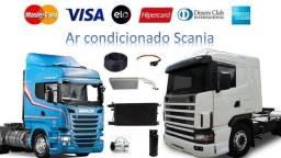 Kit ar condicionado instalado Scania Volvo