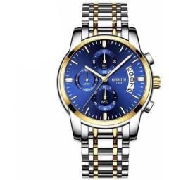 Relógio Nibosi Masculino Luxo Importado Todo Funcional Promoção