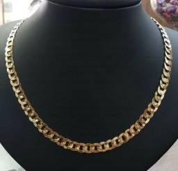 Cordão de ouro laminado feminino