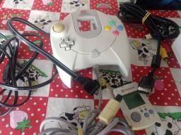 Dreamcast na caixa com manuais