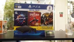 Playstation 4 1TB + 3 Jogos + 3 meses de Plus ( Loja Física - Parcelamos em 12X) - PS4