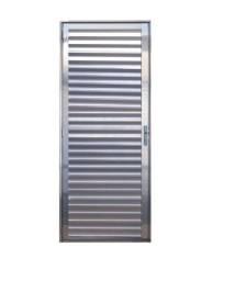 Porta de Aluminio para Banheiro Prado L25 Direita 210x070 Brilho