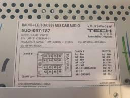 Rádio + CD/ SD/ USB + Aux Car Audio - Original Volkswagen