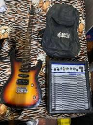 Guitarra Memphis Sunburst MG-230 SB - Tagima + Caixa de Som Munic + Capa