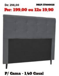 Decretado Melhor Preço - Cabeceira de Casal 1,40 em Casal Suede - Embalado