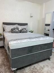Título do anúncio: Cama Box Casal Isofort Luxo Ley Colchões, Base + Colchão com molas ensacadas individuais;