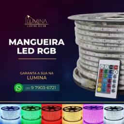Título do anúncio: Mangueira/fita LED Colorida RGB com controle muda de cor
