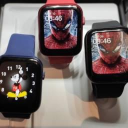 Smart Watch Lançamento 2021 Md18 Gps Track, Faz/recebe Lig.