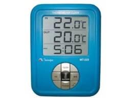 RELÓGIO TERMÔMETRO INTERNO 0°C ~ 60°C EXTERNO -50°C ~ 70°C MINIPA MT-220