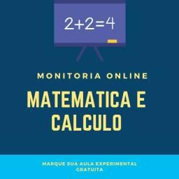 Monitorias/Aulas Online de Matemática ou Cálculo