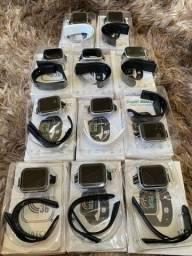 Smart Watch  Y68 Black/ Silver 12 x SEM JUROS