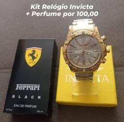 Kit Relógio e Perfume 100 ML