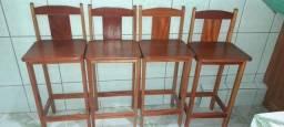 4 cadeiras de mesa americana